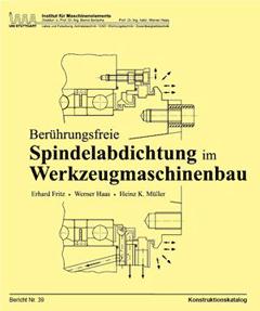 Buchcover Spindelabdichtung im Werkzeugmaschinenbau